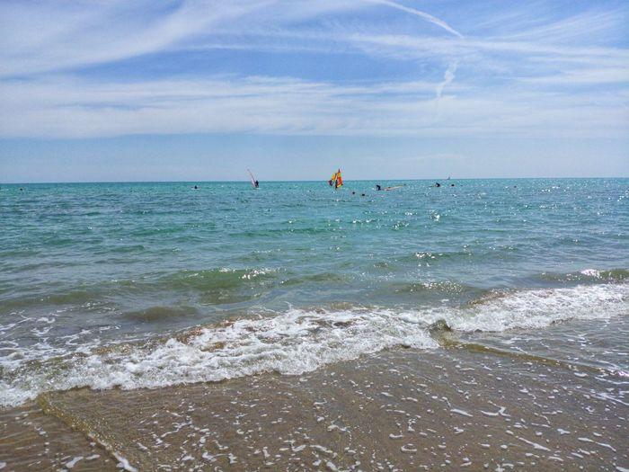 Water Sea Wave Beach Sand Sport Sky Horizon Over Water Windsurfing Surfing Water Sport Surf Surfer Coast