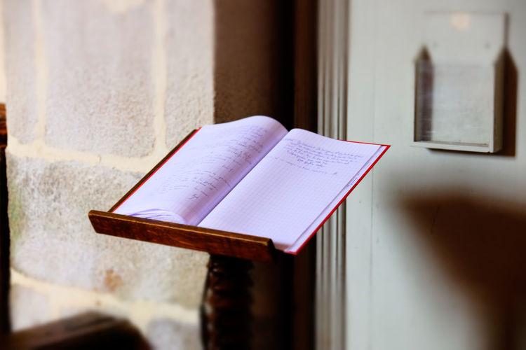 Visitor book