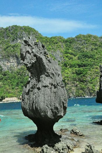 Seascape Stone Sculpture Rocks