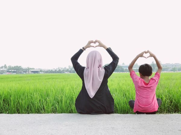 Love at Paddy Field,Sekinchan Selangor Sekinchan, Malaysia Paddy Two People Women Childhood Females Child Adult Arms Raised People Togetherness Field Nature Offspring