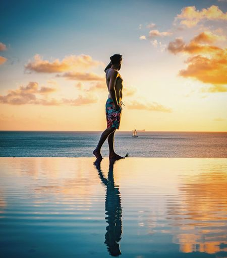 St Lucia Saint Lucia Men Colourful Sunrise Sunset Swimming Pool Swimming Pool Water Young Women Sea Full Length Human Back Beach Back Sunset Women Standing Surfing Surfboard Paddleboarding Ankle Deep In Water Surf Shore Poolside Swimming Lane Marker Tide Aquatic Sport Water Sport Coast