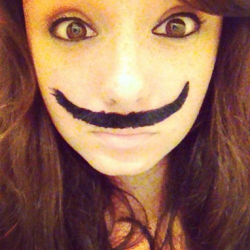 Bigeyes Mustache Amireally22 Crazy drunk birthday mustache fakemustache mustachesofinstagram