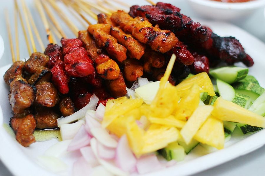 Satay ; a well-known malay delicacy