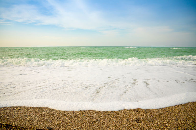 Italy Sicily Land Sky Beach Sea Scenics - Nature Horizon Water Tranquil Scene Tranquility Nature Beauty In Nature Cloud - Sky Environment Day No People Landscape Horizon Over Water Aquatic Sport Sport Outdoors