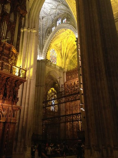 Catedral De Sevilla Stained Glass Archietecture Religion Curves Spanish Heritage Seville