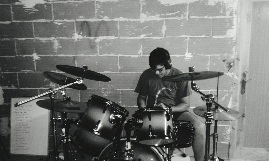 Black & White Drummer Drums Percussion Photo
