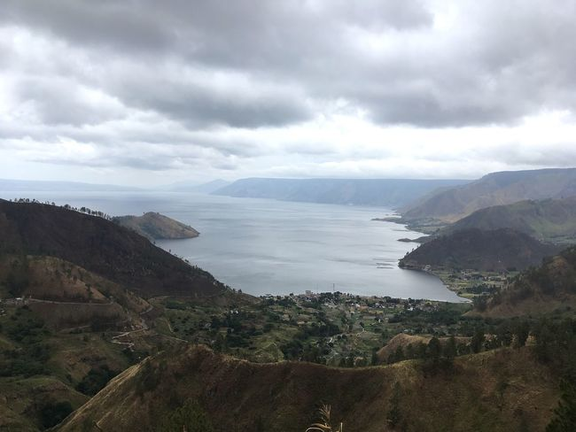 Toba Lake Cloud - Sky Sky Water Scenics - Nature Beauty In Nature Sea Tranquil Scene Tranquility Nature Mountain Day Plant No People Land Outdoors Bay High Angle View Tree Non-urban Scene