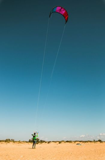 Summer Clear Sky Blue Kiting First Eyeem Photo People And Places Russia
