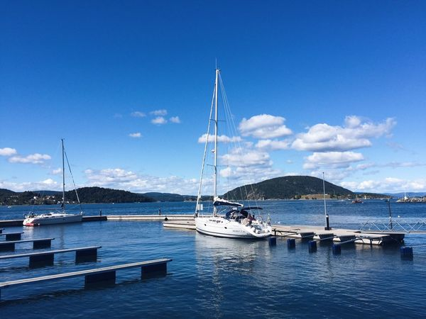 Drøbak harbor and sailing time on Oslo fjord, summertime Oslofjord Drøbak Norway Norway🇳🇴 Sailing Sailboat Sailing Boat Sailboats Harbor Fjord Harbour View Harbour Nautical Vessel Boat Water Sky Blue Sky Mast Tranquil Scene Day Scenics Sunny Day Outdoors Waterfront Tranquility