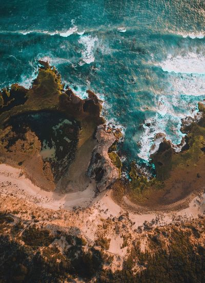 Nature Rock - Object Sea Water Rock Formation Geology Beauty In Nature Physical Geography No People Outdoors Day Scenics Beach Wave Aerial View Dji Drone  Fresh On Market 2017