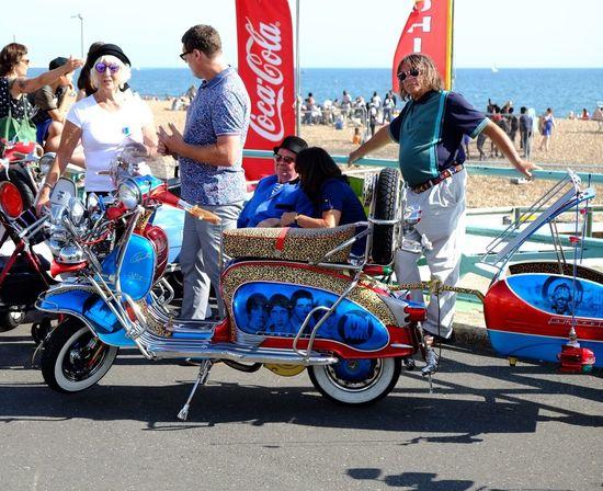 Mods. Brighton, August bank holiday. Transportation Mods Mods Scooters Scooters Brighton Seafront Clothes Vespa Vespavintage Fujifilm_xseries