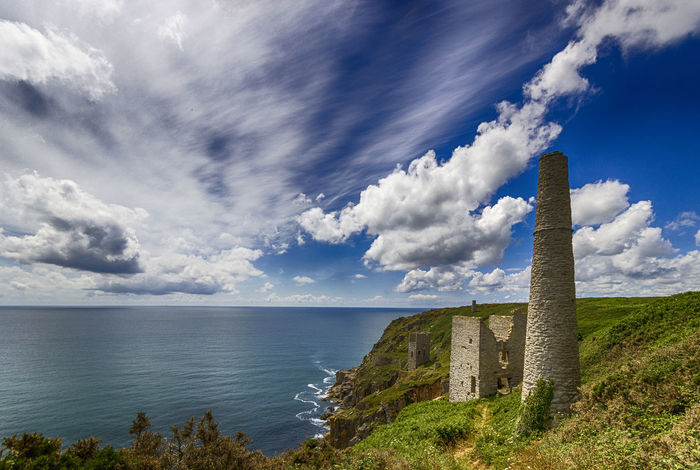 Architecture Beauty In Nature Building Exterior Built Structure Cloud - Sky Cornwall Day Grass Horizon Over Water Landscape Nature No People Outdoors Poldark Scenics Sea Sky Tranquility Water