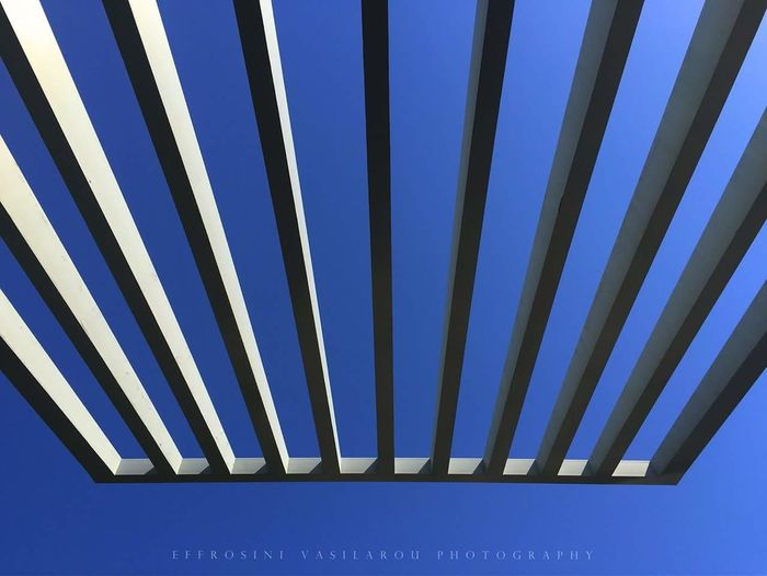 Acropolis #museum #lines #symmetry #light #sky #blue #white #photography #canon700d #Athens #Greece The Architect - 2018 EyeEm Awards Clear Sky Blue Pattern Striped Sky Close-up Architecture