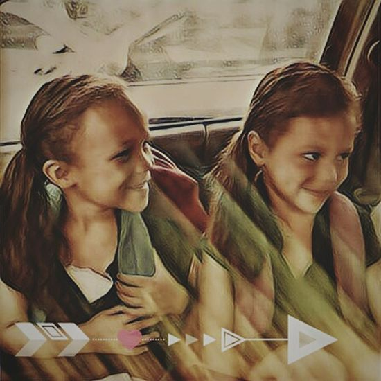 Edited TWINS ♥ Two Is Better Than One My Daughters ❤️ Going To School Perfection Beautiful ArtWork