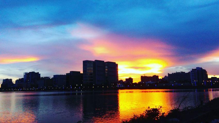 Cloud - Sky pho City Sunset Water City Life Cloud Romantic Sky Dramatic Sky Mobile_photographer Colorful Sky