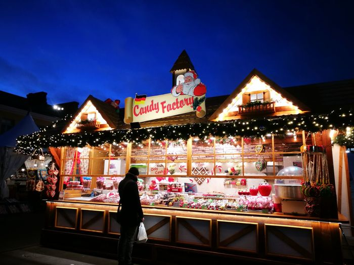 Christmas is coming! Candyfactory Sweets TimeToCelebrate Sweet Food Sweetday♡ Christmas Lights City Illuminated Multi Colored Arts Culture And Entertainment Neon Celebration Nightlife Holiday - Event Amusement Park