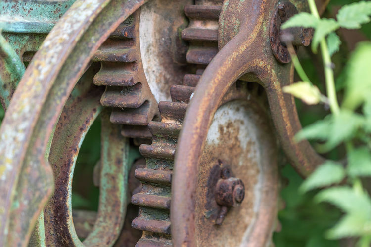 Backgrounds Close-up Detail Deterioration Focus On Foreground Iron - Metal Machine Part Metal Metallic No People Obsolete Old Outdoors Part Of Pipe - Tube Run-down Rusty Strength Wheel