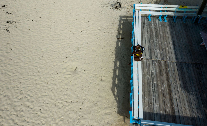 Shells Beach Day High Angle View Nature Outdoors People Full Length Directly Above Architecture Unrecognizable Person Built Structure Land Beach Bimini Wooden Structure Sand One Person
