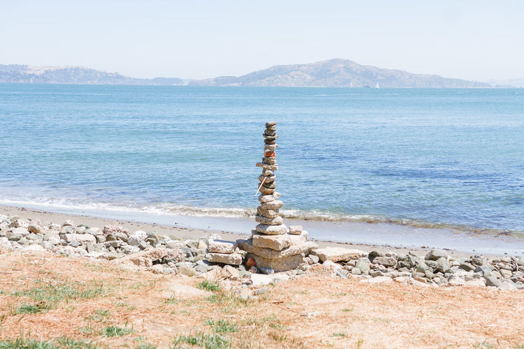 San Francisco Art Beach Mountain Mountain Range Ocean Rock Art Sand Stacked Stacked Rocks