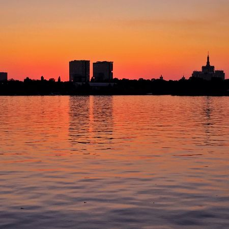 My sunset my hometown Bucharest Sunset Waterfront Water City Scenics Tranquil Scene Orange Color Sky Calm Urban Skyline