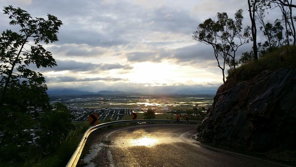 Sunset after Cyclone Ita.