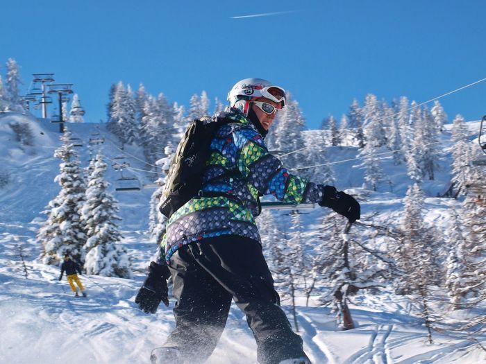 Snow Winter Snowboarding Cold Temperature Sky Mountain First Eyeem Photo Nikon Photography Nikon Flachau Ski Brother