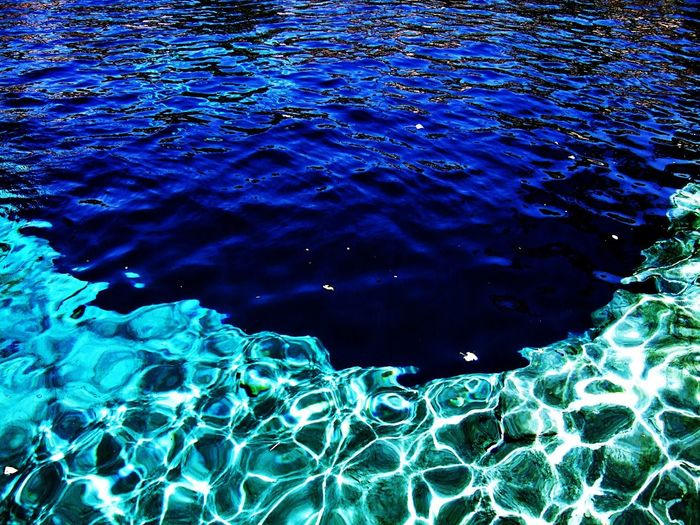 How Deep is Your Love? http://youtu.be/tw54Prfuzv8 From My Archives EyeEm Nature Lover Eye4nature Eye4photography  Tadaa Community EyeEm My Unique Style EyeEm Best Shots Santa Rosa, New Mexico Route 66 The Blue Hole ~ The Blue Hole of Santa Rosa is a circular, bell-shaped pool east of Santa Rosa, New Mexico that is one of the most popular dive destinations in the US[1] for SCUBA diving and training. The Blue Hole is an artesian well that was once used as a fish hatchery.[2] It is a clear blue body of water with a constant 64 °F (18 °C) temperature and constant inflow of 3000 gallons per minute. While the surface is only 80 feet (24 m) in diameter, it expands to a diameter of 130 feet (40 m) at the bottom.[3] Courtesy of Wikipedia.