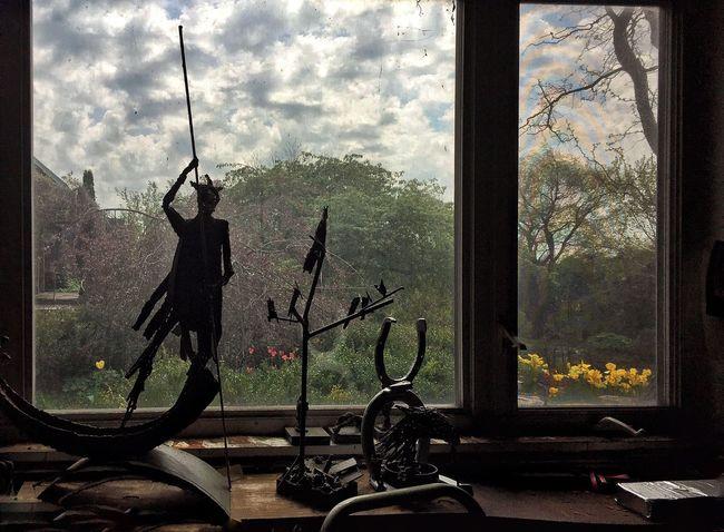 BYOPaper! Tree Window Day Sculpture Studio People Full Length Sky Nature