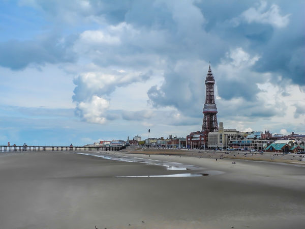 Architecture Blackpool Beach Blackpool Pier Blackpool Tower Building Exterior Built Structure The World Before Bin Laden Cityscape Cloud - Sky Day Lancashire UK Nature No People Outdoors Road Sky Tide Out Tourism Tower Travel Destinations
