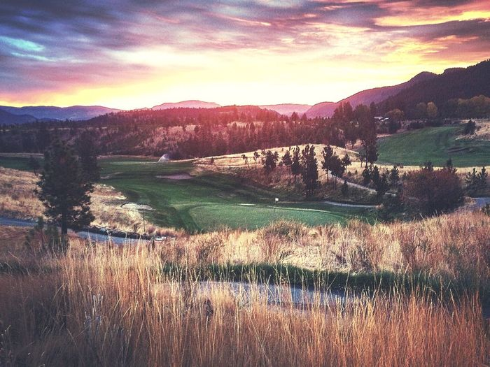 Sunrise Golf Greenskeeper Eaglepoint Golf Resort Golf Course Tranquil Scene Nature Scenics Beauty In Nature Tranquility Grass Landscape Outdoors Mountain Sky EyeEm Ready