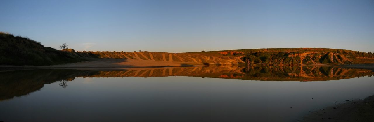 Panorama Water Reflections Copy Space Landscape Off The Beaten Path Water_collection 4x4 Panoramic Landscape California Drought And Floods Golden Hour via Fotofall