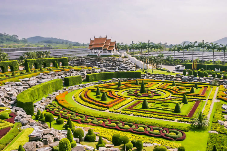 Nong nooch tropical botanical garden against sky