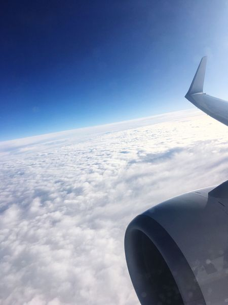 Airplane Transportation Airplane Wing Journey Aerial View Sky Mode Of Transport