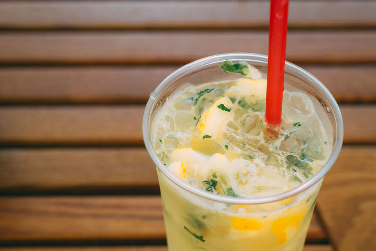 A cure for the hot summer days Lemonade Chopped Close-up Cold Temperature Drink Drinking Glass Drinking Straw Food Food And Drink Freshness Frozen Fruit Glass Health Healthy Healthy Eating Healthy Food Lemon Lemons Mint Plastic Refreshment Straw Wellbeing Wood - Material