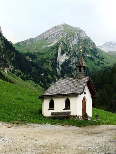 Chapel Chapel In The Mountains Austrian Mountains Nature Small Chapel Hiking Valley Kraxentrager Mountain No People Tranquility Place Of Worship Grey Sky Venntal Venn Valley