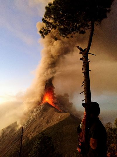 Volcan Fuego, February 2018 Tree Sky Plant Nature Smoke - Physical Structure Land Heat - Temperature Fire Fire - Natural Phenomenon