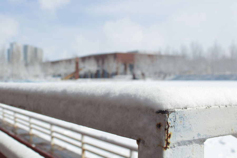Winter Snow Cold Temperature Water No People Outdoors Day Sky Nature Architecture City Close-up