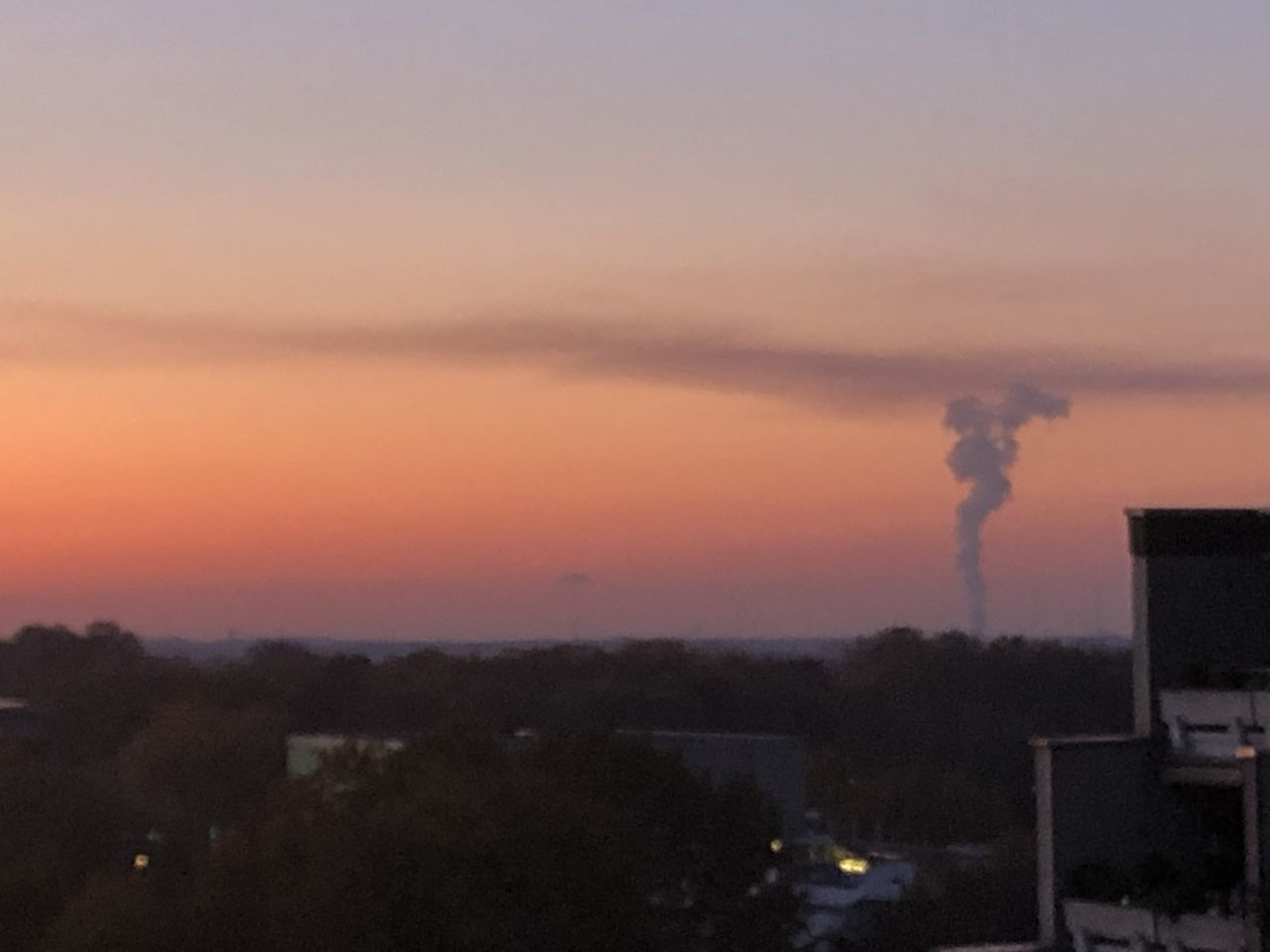smoke - physical structure, building exterior, sky, sunset, smoke stack, factory, emitting, pollution, industry, built structure, environmental issues, environment, chimney, air pollution, architecture, smoke, no people, fumes, orange color, atmospheric, outdoors, ecosystem, cityscape