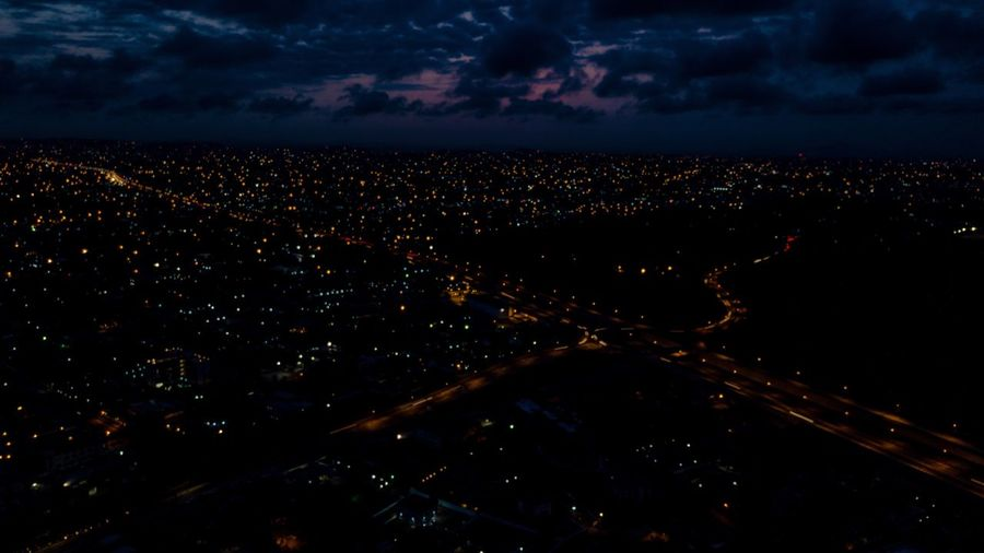 Dzorwulu Nights Onefotos Eyeemghana Dorofoto Night Sky Star - Space Cityscape Illuminated Nature City Landscape Aerial View Dark Outdoors Cloud - Sky Galaxy Astronomy