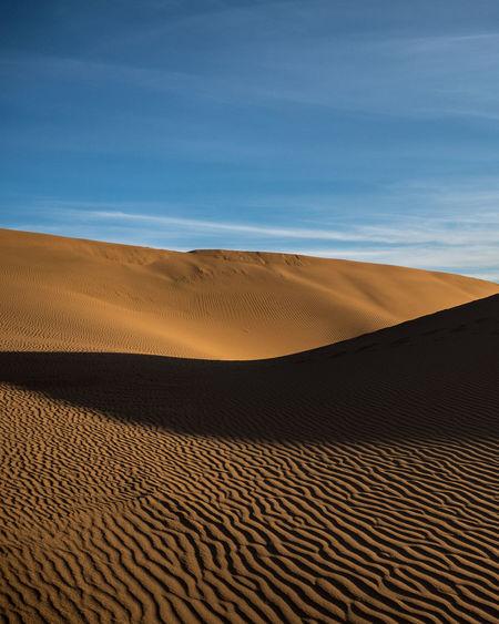 Sand dunes in the gobi dessert, china