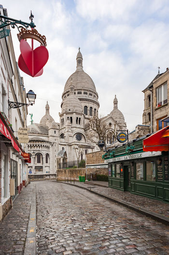 paris mont marter Architecture Belief Building Building Exterior Built Structure City Cloud - Sky Day Dome History Nature No People Place Of Worship Religion Sky Spirituality Street The Past The Way Forward Travel Destinations