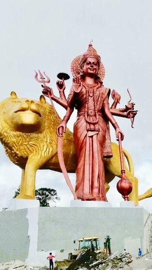 Been There. Durgotsav Travel Destinations Sculpture Statue Outdoors People Religion Hindu Hinduism Hindu Temple Hindu Gods Hindu Culture Jai Mata Di Durga Durga Puja 2017 Mauritius Pari Talao Mangal Mahadev Mauritius Ambe Maa Matarani Shiv Mahima Sabha Matarani High Angle View Grand Bassin Tallest Statue