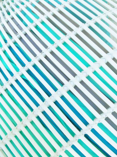 TakeoverContrast Skyblue Light Blue White And Blue Turquoise Colored Turquoise Bright Colors Morning Bright Light Bright Day Pattern Pattern, Texture, Shape And Form Terrace Cafe Textured  Design Interior Design Geometric Shape No People