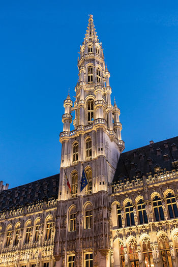 Historical buildings in Brussels, Belgium. Ancient Architecture Brussels Building Exterior Built Structure Capital Cities  City Clear Sky Façade Grand Place Bruxelles History Holiday Low Angle View No People Outdoors Sky Tourism Town Travel Destinations Vacation