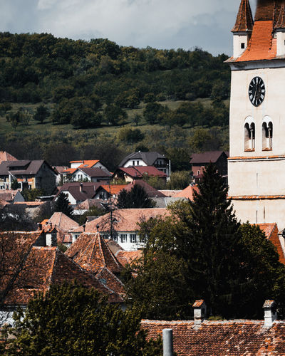 Architecture Built Structure Tree Building Exterior Building Roof Plant House No People Residential District City Nature Town High Angle View Day Outdoors Mountain Sky Cloud - Sky Community TOWNSCAPE Sibiu Romania Explore Discover  Travel Adventure Nikon D7500 Medieval Old Wall Church Fortress EyeEm Best Shots EyeEm Nature Lover EyeEm Gallery