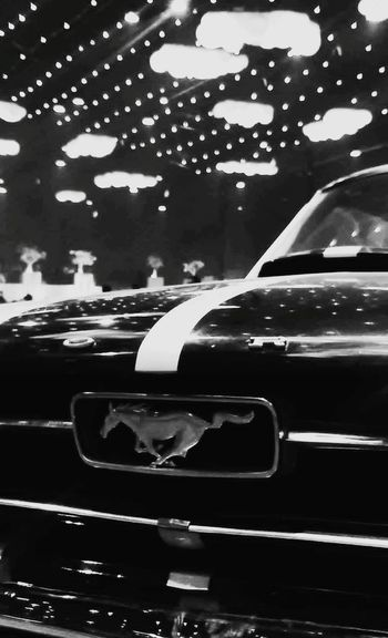 Mustang Mustang Love Car Carlover Hood Mustang Logo Running Horse Ford Mustang Black And White Light And Shadow Cars Photography Sln Photography Pics_sln