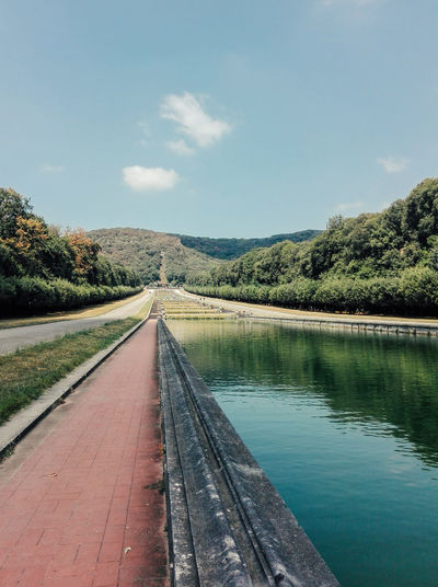 Garden at the Caserta's Reggia Caserta Beauty In Nature Canals And Waterways Day Garden Gardens Nature No People Reggia Reggia Di Caserta Scenics The Way Forward Tranquil Scene Colour Your Horizn