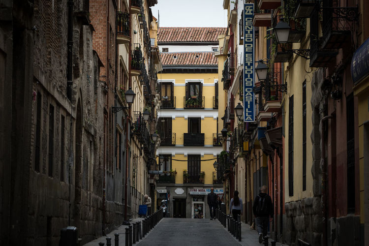 Madrid SPAIN Madrid Spain España Architecture Building Exterior Built Structure City Day Building The Way Forward Direction Residential District Outdoors Street Narrow No People Alley Footpath Window Old In A Row