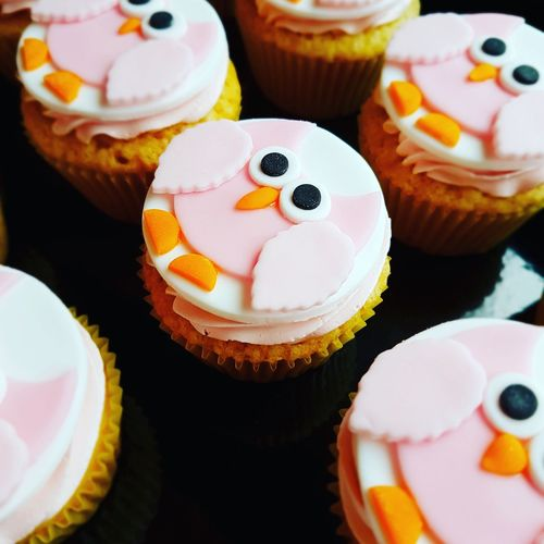 Anthropomorphic Smiley Face Ready-to-eat Cupcake Food No People Sweet Food Close-up Day