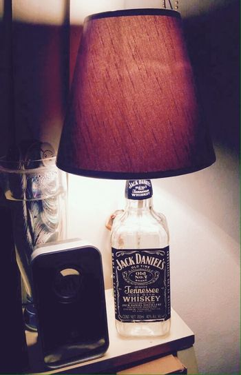 Jack Daniel's Bottle Lamp $350 mxn Jack Daniel's! Jack Daniel's Jack Daniels Whiskey Jack Daniels♥